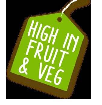 High in fruit & Veg